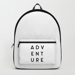 Adventure Minimalist Quote Backpack
