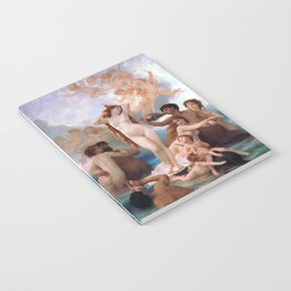 The Birth of Venus by William Adolphe Bouguereau Notebook