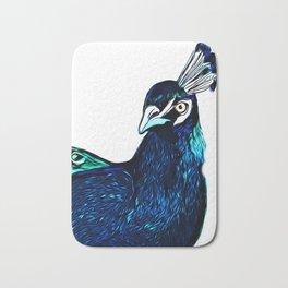 Peacock Art ~ Jennifer's Art Design Bath Mat