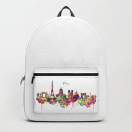 Paris Skyline Silhouette Backpack