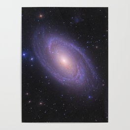 Spiral Galaxy Space Image Poster