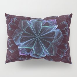 Ornate Blossom in Cool Blues Pillow Sham