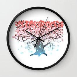 Autumn oak tree Wall Clock
