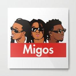 Migoss Supreme charakter Metal Print