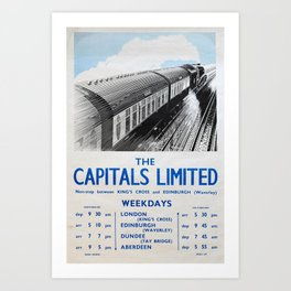 The Capitals Limited Vintage Travel Poster Art Print