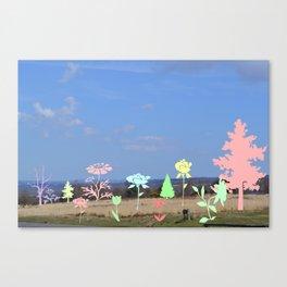 Landscape floral Canvas Print