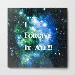 Blue Green Galaxy : I Forgive It All Metal Print