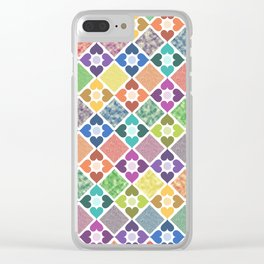Colorful Floral Pattern III Clear iPhone Case