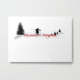 Ski at Madarao/Tangram (Madarao/Tangram) Metal Print