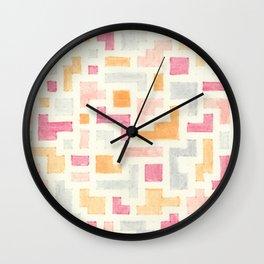 Nude Blocks 2 Wall Clock
