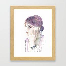 Simply Falling Framed Art Print