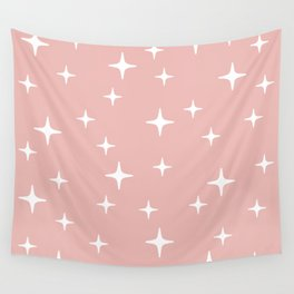 Mid Century Modern Star Pattern 443 Dusty Rose Wall Tapestry