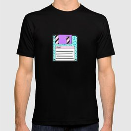 Memphis Retro Revival Floppy Disk '88 T-shirt