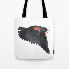 Redwinged Blackbird Tote Bag
