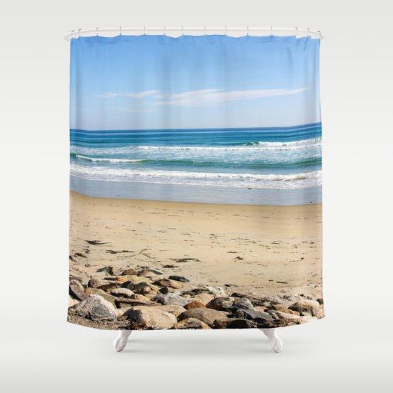 Rocky Beach Shower Curtain