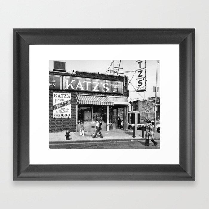 Katzs Deli NYC Gerahmter Kunstdruck