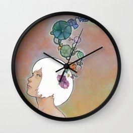 Moonflower Wall Clock