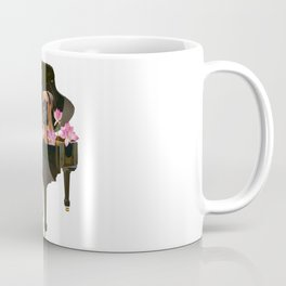 Boxer Dog in Piano with Lotos Flowers Coffee Mug