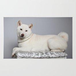 Cream Shiba Inu Dog Rug