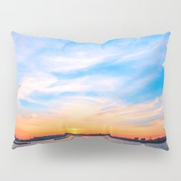 Sunset in a white night Pillow Sham