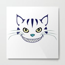 Grinning  Cheshire Cat Metal Print