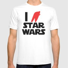 I Heart Star Wars SMALL White Mens Fitted Tee
