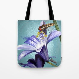 Wasp on flower 11 Tote Bag
