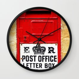 Old British Post Box Wall Clock