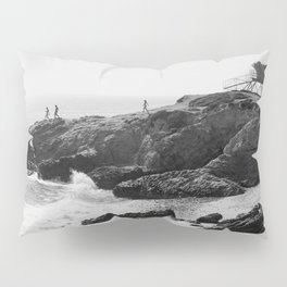 Leo Carrillo State Beach | Malibu California | Black and White Photography | Malibu Photography Pillow Sham