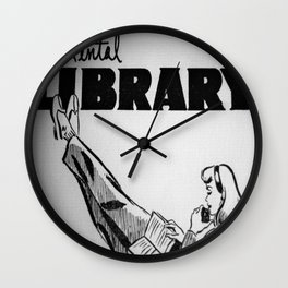 Vintage Rental Library Wall Clock
