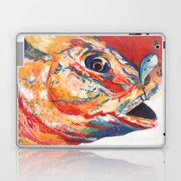 Expressionistic Blue Gill Sport Fish with Lure Laptop & iPad Skin