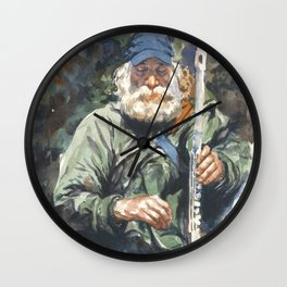 Flute Player Sept 2014 Wall Clock