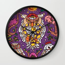 King of owl Wall Clock
