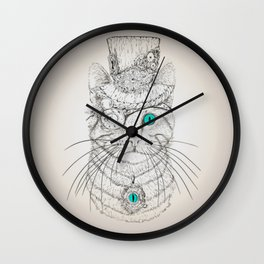 Steampunk Cat Vintage Style Wall Clock