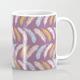 Sacred Bird Feathers Stripes Coffee Mug