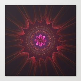 Blossom Within in Red Canvas Print