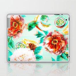 Tropical flowery fruit glitch Laptop & iPad Skin