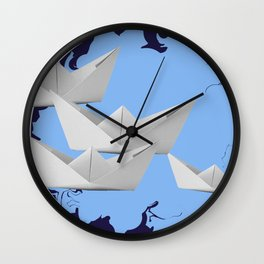 paperboats Wall Clock