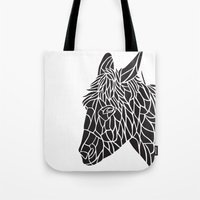 donkey Tote Bags featuring Donkey by Gemma Bullen Design