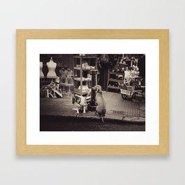 Portobello market Framed Art Print