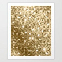 Gold glitter texture Art Print