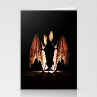 bat Stationery Cards featuring bat by new art
