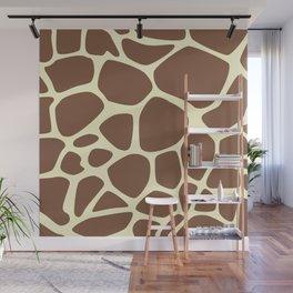Animal Print (Giraffe Pattern) - Brown Yellow Wall Mural