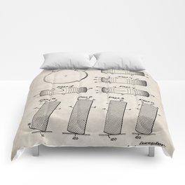 Ice Hockey Patent - Hockey Puck Art - Antique Comforters
