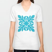 quilt V-neck T-shirts featuring QUILT GIRLS by occi