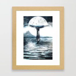 The whale and the drowned by GEN Z Framed Art Print