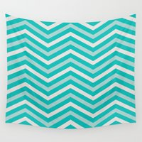 tiffany Wall Tapestries featuring Zigzag Tiffany by TheSmallCollective