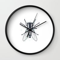 deadmau5 Wall Clocks featuring Cartridgebug by Sitchko Igor