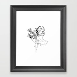 Olive (Black) Framed Art Print