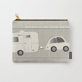 Glamping with vintage camper.  Carry-All Pouch